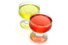 Red jelly party five Royalty Free Stock Photo