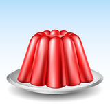 Red Jelly Pudding Royalty Free Stock Photography