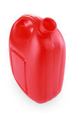 Red jerry can Stock Image