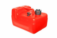 Red jerry can Royalty Free Stock Photos
