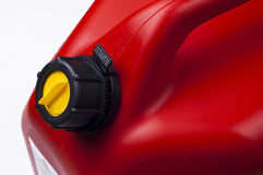 Red jerry can Stock Images