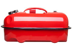 Red jerrycan Stock Image
