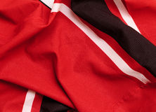 Red jersey. Red hockey jersey closeup for sports background Stock Photo
