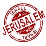 Red Jerusalem stamp Royalty Free Stock Photography