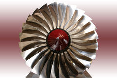 Red Jet. Abstact jet fan compressor Stock Photo