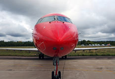 Red jet plane Stock Image