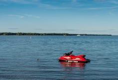 Red jetski Royalty Free Stock Photography