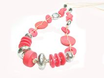 Red jewellery beads Royalty Free Stock Photos
