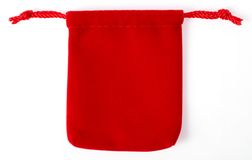 Red jewelry bag01 Royalty Free Stock Photos