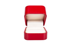 Red jewelry box Stock Photos