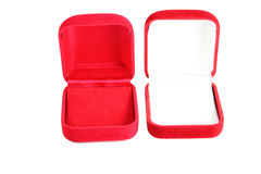 Red jewelry box isolated. Royalty Free Stock Images