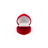 Red jewelry box isolated on white Stock Image