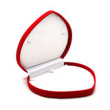 Red jewelry box on white background Stock Image