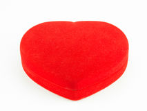 Red jewelry Heart-Shaped box . Royalty Free Stock Photos