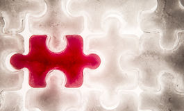 Red  jigsaw piece Stock Photography