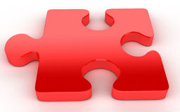 Red Jigsaw puzzle Stock Photography