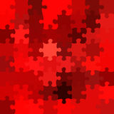 Red jigsaw puzzle. Regular red jigsaw puzzle background Stock Photography