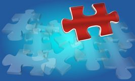 Red Jigsaw Royalty Free Stock Photos