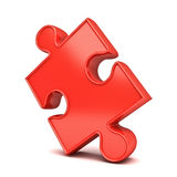 Red jigsaw puzzle piece Royalty Free Stock Photos