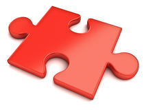 Red jigsaw puzzle piece Stock Photo