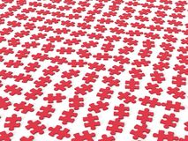 Red jigsaw puzzle pieces. 3d render of red jigsaw puzzle pieces Stock Photo