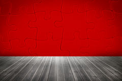 Red jigsaw room Royalty Free Stock Photo