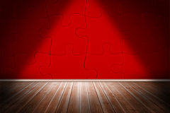 Red jigsaw room Stock Photography
