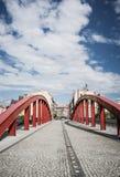 Red Jordan bridge Stock Image