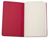 Red Journal with Graph Square Page and Pocket Stock Photo