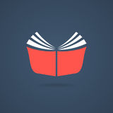 Red journal icon with shadow Royalty Free Stock Images