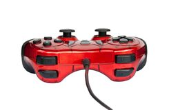 Red joystick game controller . Royalty Free Stock Photo