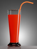 Red juice in glass with Royalty Free Stock Images