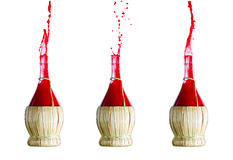 Red juice splash Royalty Free Stock Photo