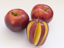 Red juicy Apple. On white background Stock Photography
