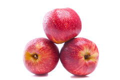 Red juicy apples Stock Image