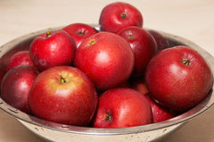 Red juicy apples in a bowl Royalty Free Stock Image