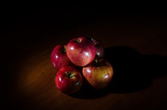Red, juicy apples with water drops. Royalty Free Stock Photography