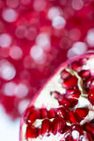 Red Juicy Seeds of Pomegranate. Stock Photos
