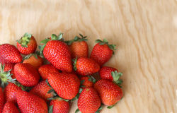 Red and juicy strawberries. For export, first quality Royalty Free Stock Image