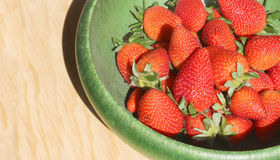 Red and juicy strawberries Royalty Free Stock Photos