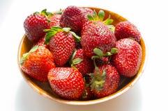 Red juicy strawberry Stock Photos