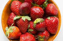 Red juicy strawberry Stock Images
