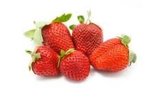Red juicy wet strawberries Stock Photo