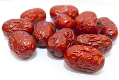 Red jujube. On a whtie background Royalty Free Stock Image
