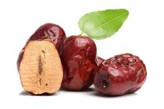 Free Red Jujube And Green Leaves Royalty Free Stock Photo - 128926285