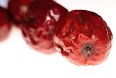Red jujube isolated stock photos