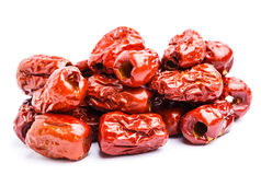 Red jujube isolated on white Royalty Free Stock Image