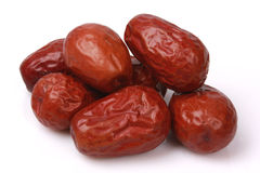 Red jujube. Isolated on white background Royalty Free Stock Images