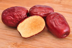 Red jujube--a traditional chinese food Royalty Free Stock Photography