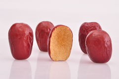 Red jujube--a traditional chinese food Royalty Free Stock Photos